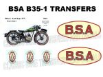 BSA B35 Transfers and Decals Sets
